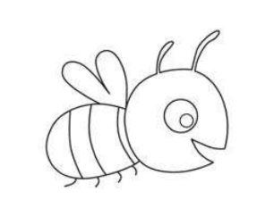 Ausmalbild Biene